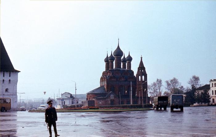Православный храм в Ярославле.