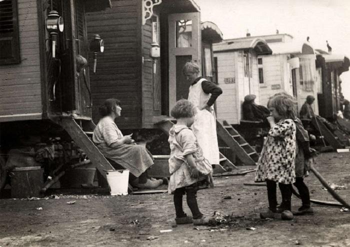 Цыганский табор в окрестностях Амстердама, 1915 год.