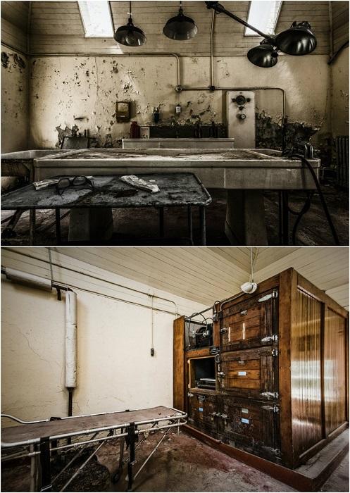 Старая заброшенная психиатрическая больница.