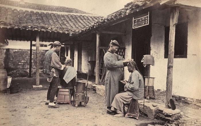 Фотографии Уильяма Сондерса о жизни Шанхая времён правления династии Цин.