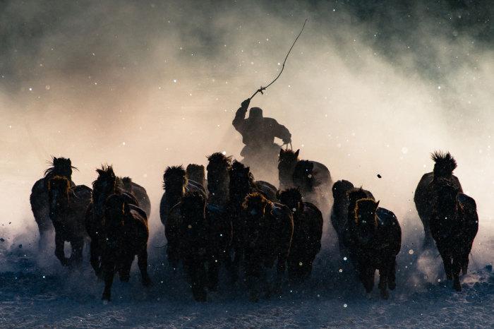 Вся красота и мощь суровой зимней Монголии. Автор фотографии: Энтони Лау ().