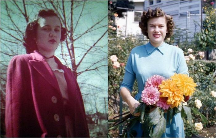 Женская мода и стиль 1940-х годов.