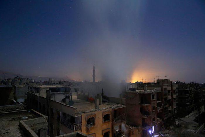 Разрушительные бомбардировки.