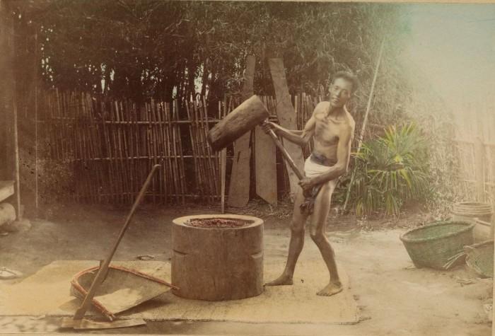Получение рисовой муки.
