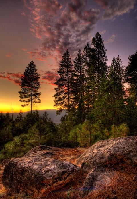 Парк славится своим ландшафтом и природой: гранитные скалы, водопады, реки с чистой водой, рощи секвойядендронов.