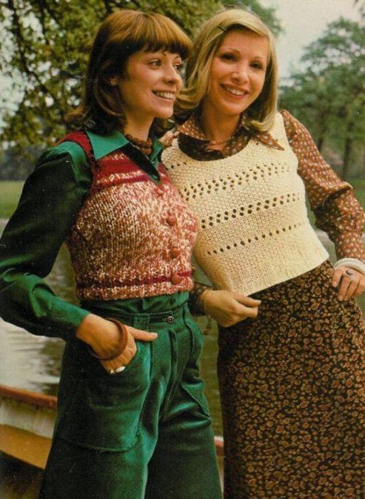 Жилеты в 1970-х годах были очень популярны – не зависимо от цвета, формы и длины.