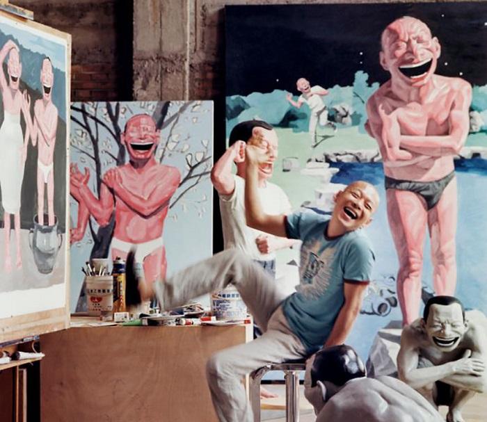 Студия одного из самых дорогих современных художников в Китае.