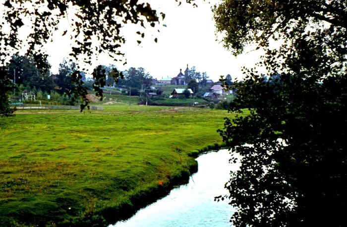 Вид на село Федоскино.