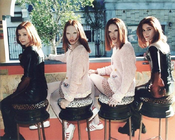 Элисон Ханниган и её дублёры на съёмках сериала.