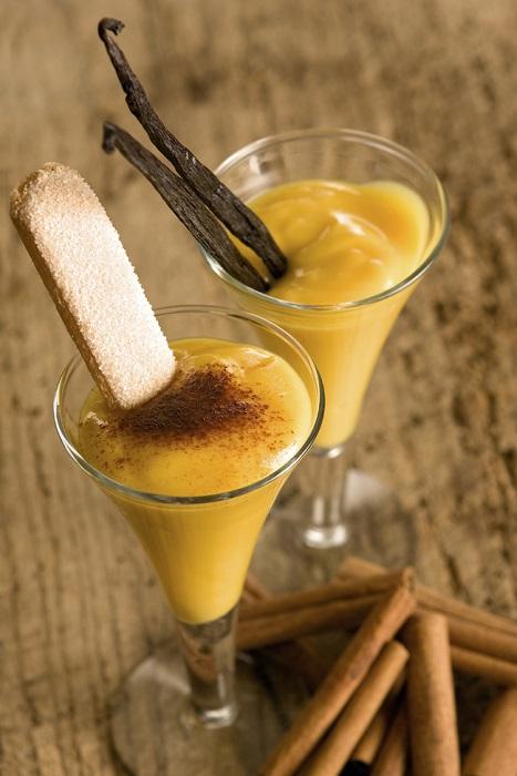 Алкогольный напиток, сделанный из яиц, сахара и бренди. Как гоголь-моголь, этот напиток обычно пьют на Пасху.