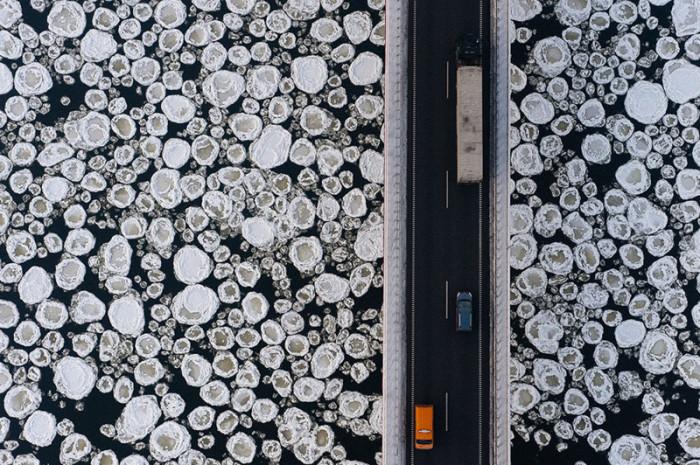 Подвесной мост в Польше.