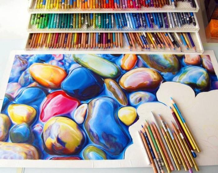 Рисунок, выполненный цветными карандашами.