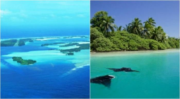 Небольшая коралловая группа островов в центральной части Тихого океана.