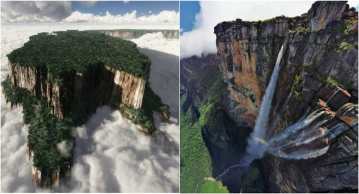 Наибольшую известность Тепуи получило благодаря причудливым скалам, которые вздымаются вверх на высоту в 1,5-2 км. и имеют абсолютно плоские вершины.
