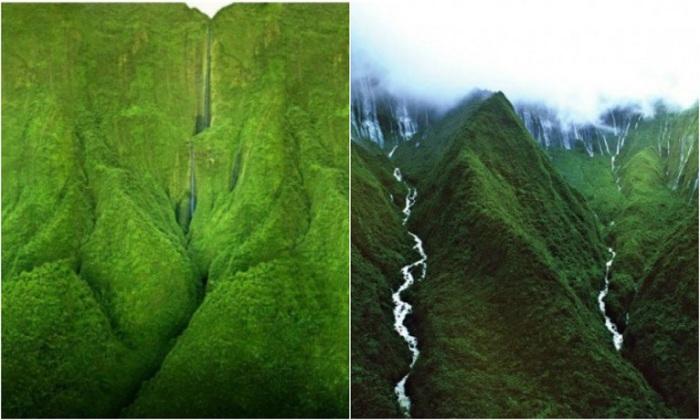 Самый высокий водопад на острове и, чтобы до него добраться, нужно брать вертолетную экскурсию.
