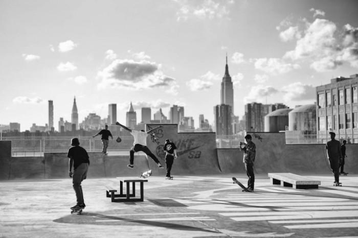 Экстремальный вид спорта в Бруклине.