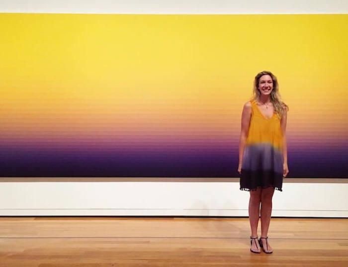 Картина «Желтое горение» канадского художника Нормана Заммитта (Norman Zammitt).