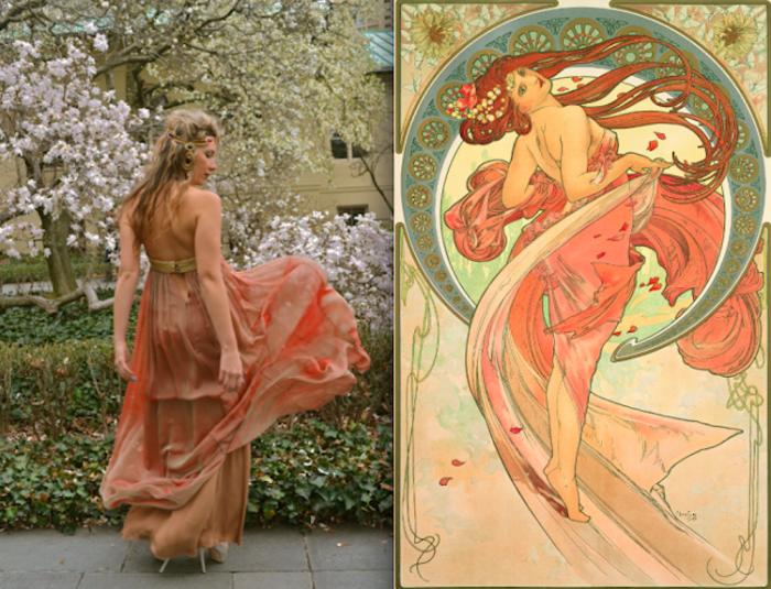 Картина «Танец» чешско-моравского живописца Альфонса Мухи (Alphonse Mucha).