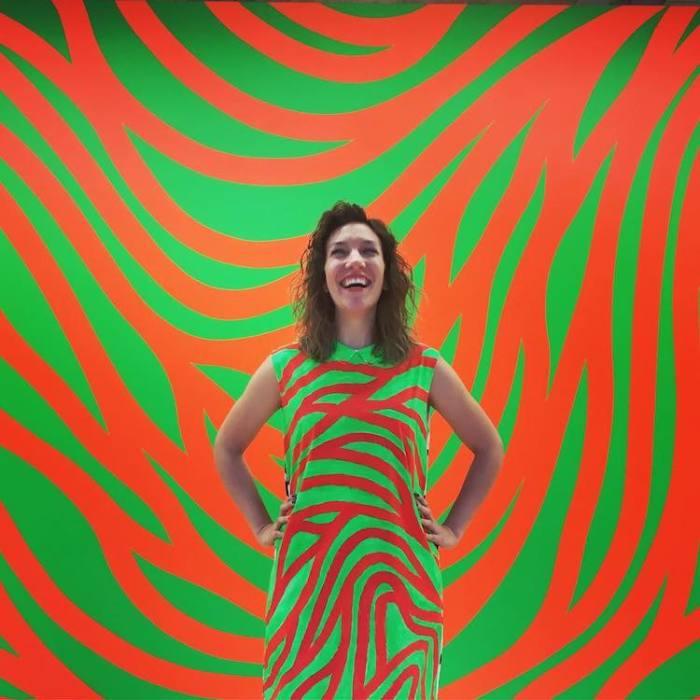 Геометрический рисунок американского художника Сола Левитта (Sol LeWitt).