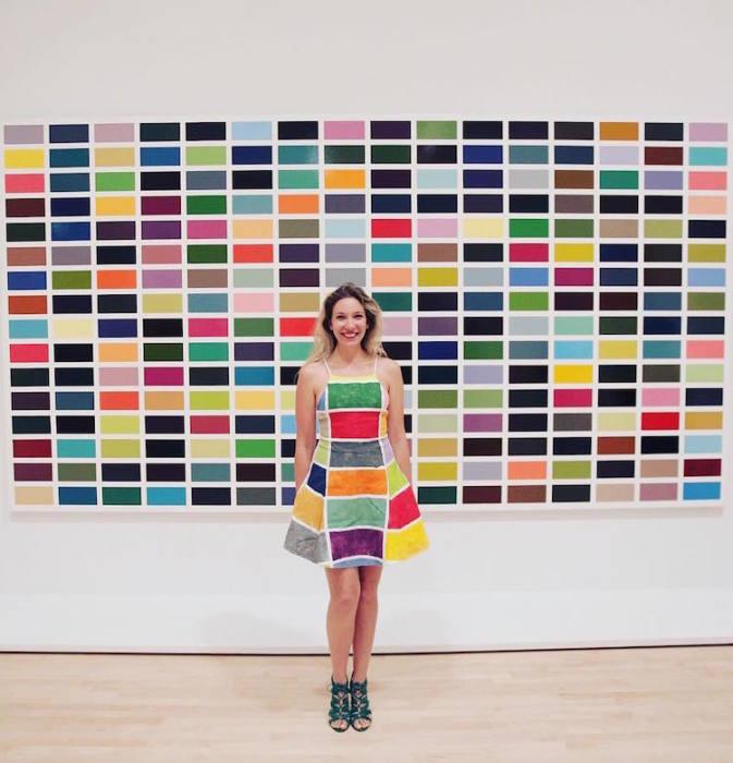 Картина «256 цветов» немецкого художника Герхарда Рихтера (Gerhard Richter).