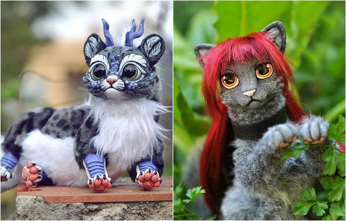 Фантастические существа, созданные испанским скульптором.