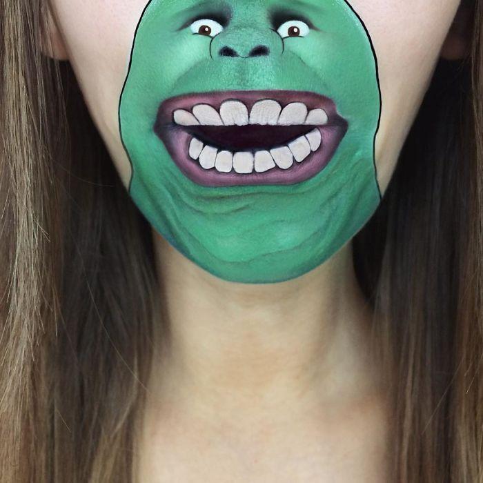 Зеленый призрак, который состоит из эктоплазмы.