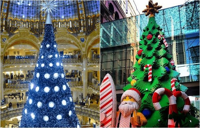 Все страны разные, как и их взгляды на рождественские елки.
