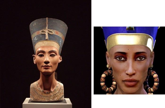 Реконструкция  облика «главной супруги» древнеегипетского фараона XVIII династии Эхнатона.