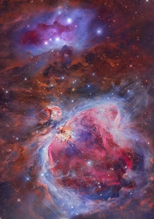 Диффузная туманность, расположенная на Млечном пути.