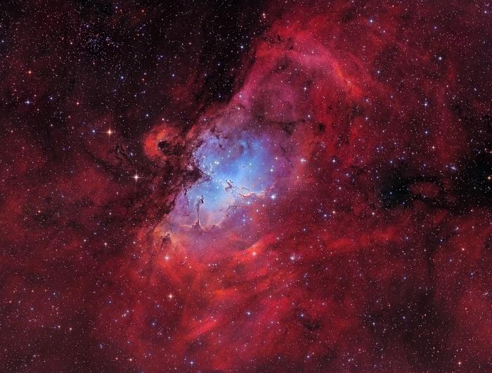 Мессье 16, запечатлён в обсерватории Бэренштейна в Германии.