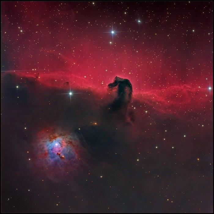 Игнорирование туманности NGC 2023.