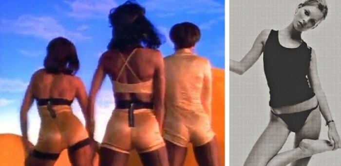 Секс-идолы того периода — Кейт Мосс и Вайнона Райдер — худые, невысокие женщины, без выраженных округлостей.