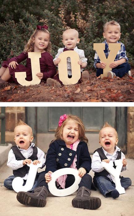 Когда хотят такое фото только родители, а дети категорически против.