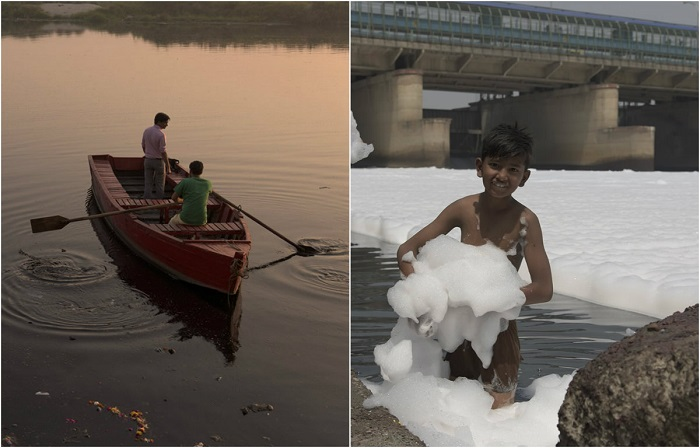 Умирающая река Джамна на снимках фотографа Джея Тхакура.