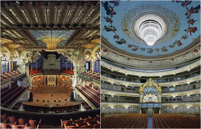 Ошеломительные интерьеры оперных театров.