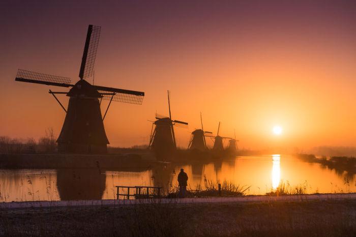 Крупнейшее сосредоточение старинных мельниц в Нидерландах.