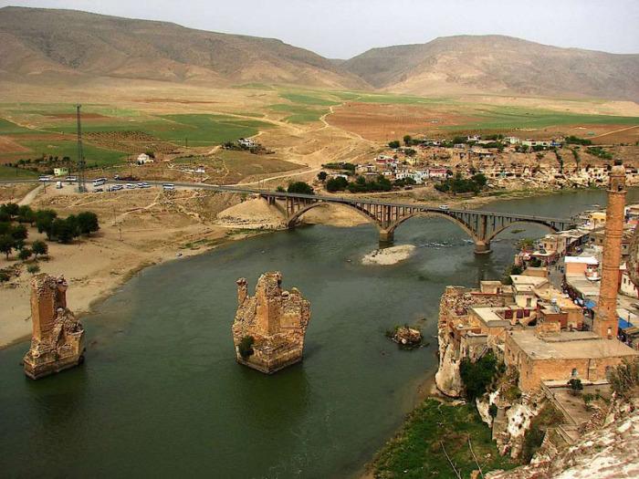 Река находится в Месопотамии, на территории современного Ирака, а также частично Турции.
