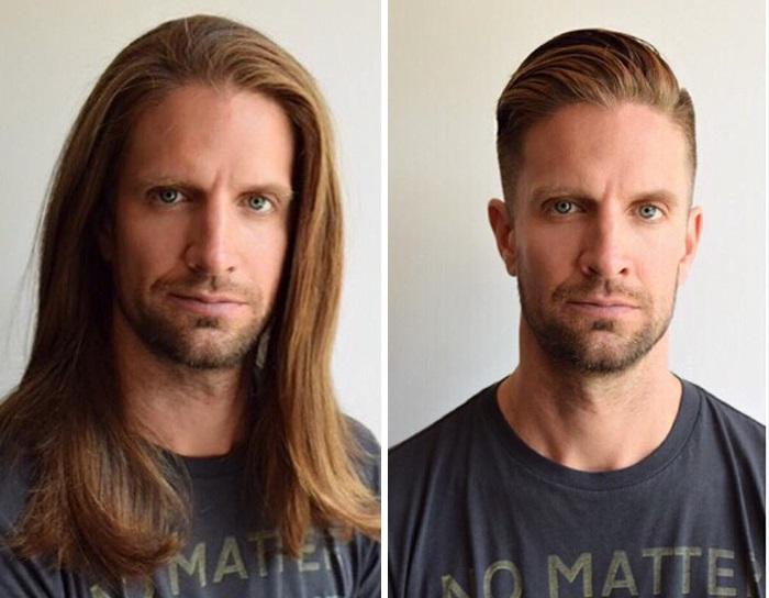 Его мастер-парикмахер отлично знает свое дело!