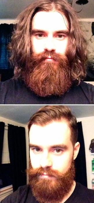 За роскошной бородой скрывается красивый парень.