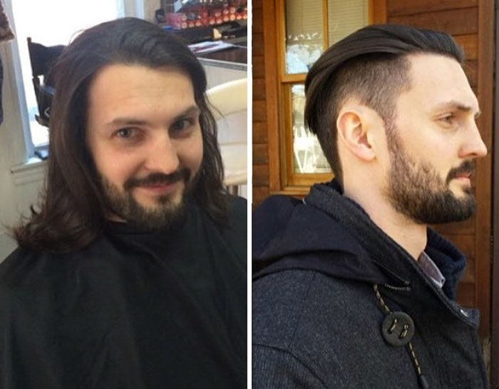 А вот некоторым хорошо как с длинными волосами, так и с короткими.