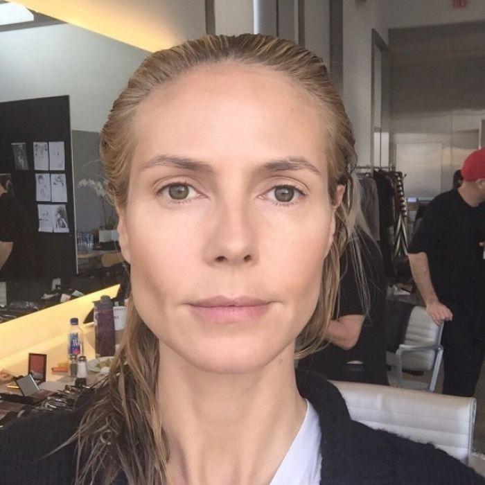 Смелая немецкая модель и киноактриса не боится демонстрировать поклонникам свое лицо без макияжа.