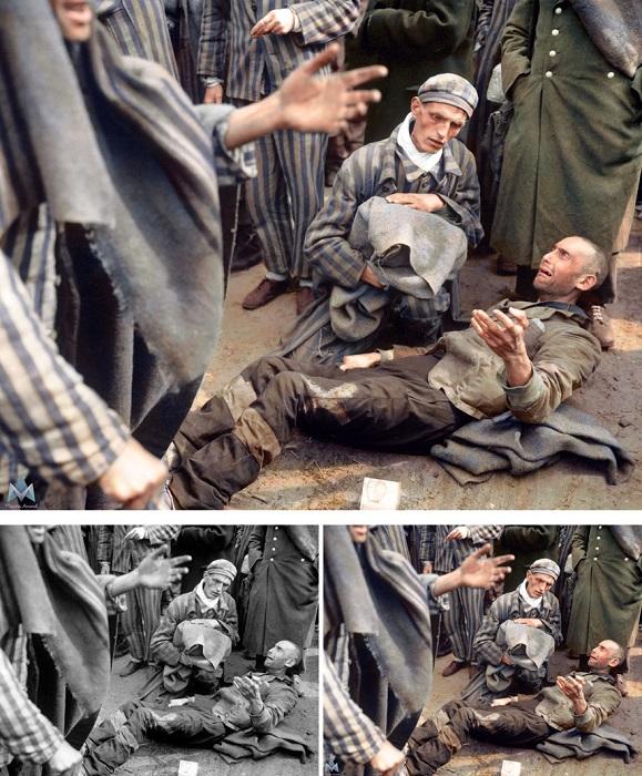Заключенный концентрационного лагеря Вёббелин расплакался, узнав, что он не включен в первую группу заключенных, отправляющихся в больницу после освобождения.