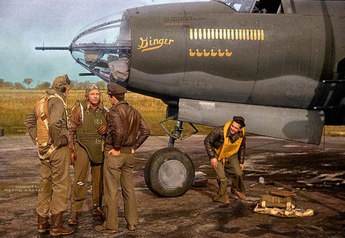Экипаж бомбардировщика.