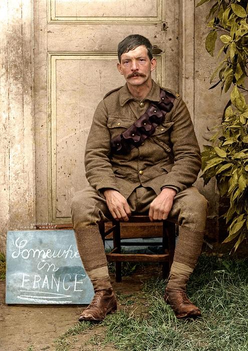 Британский солдат во время Первой мировой войны.