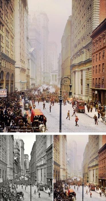 Улица в нижнем Манхэттене, которая проходит через Финансовый квартал.