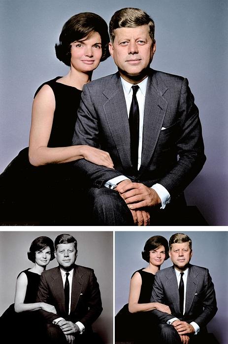Джоном Кеннеди и первая леди Америки Жаклин Кеннеди.