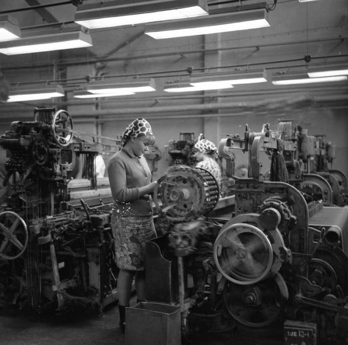 Текстильная фабрика в Минске, Беларусь, 1967 год.