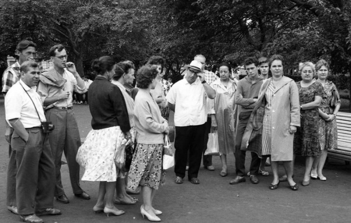 Советские туристы в Москве, 1963 год.