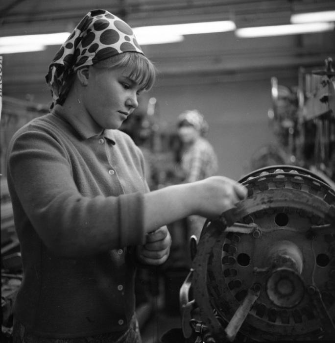 Текстильная фабрика, Беларусь, 1967 год.
