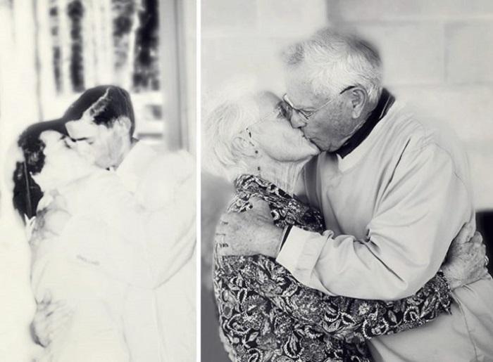 На свадьбе и через 60 лет.
